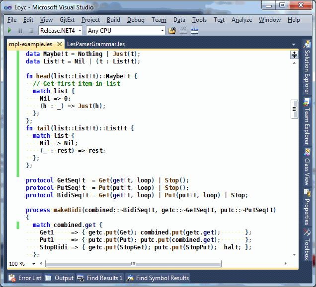 LES: Loyc Expression Syntax · Loyc